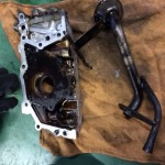 サンバー オイル漏れ オイルポンプ・フロントカバー修理