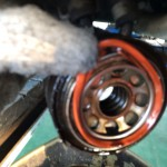 ワゴンR オイルクーラーオイル漏れ修理 MC22S