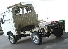 軽トラックの荷台を載せ替え