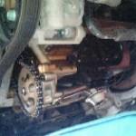 VW ニュービートル オイルパン交換