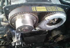 Y33セドリックのRB25エンジンのタイミングベルトを交換してみた
