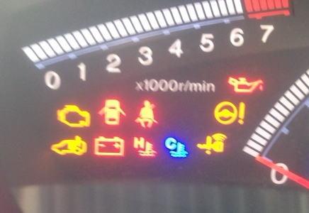 車の各種警告灯について