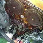 ワゴンR タイミングチェーンカバーからのオイル漏れ修理