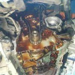 エブリィ DA64V タイミングチェーンカバーからのオイル漏れ修理