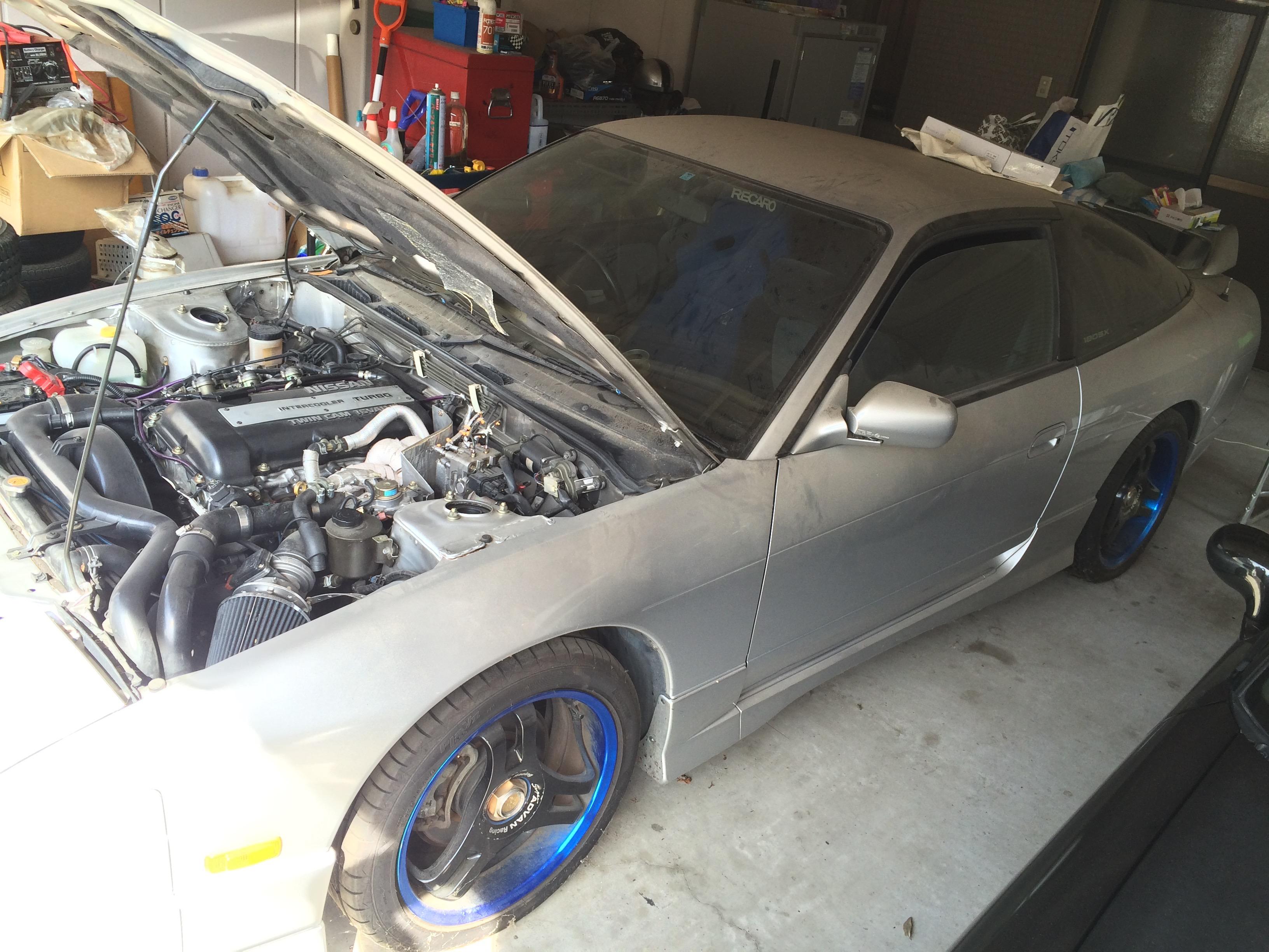 9年間不動だった180SXのエンジンをかけてみた