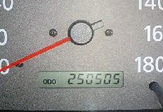 予想がつきにくい25万キロ走行車の車検整備