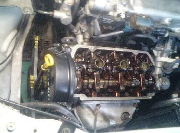 ワゴンR F6A 4バルブ シリンダーヘッドOH その5