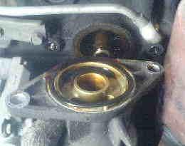 ムーヴ L900 オイルフィルターのブロック付け根からのオイル漏れ修理