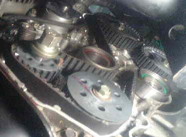 タウンボックス U64W DOHCターボ タイミングベルト・ウォーターポンプ交換