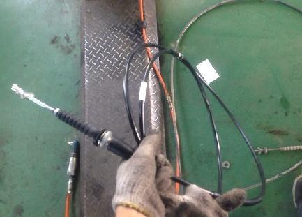 サンバー TT2 クラッチワイヤー交換
