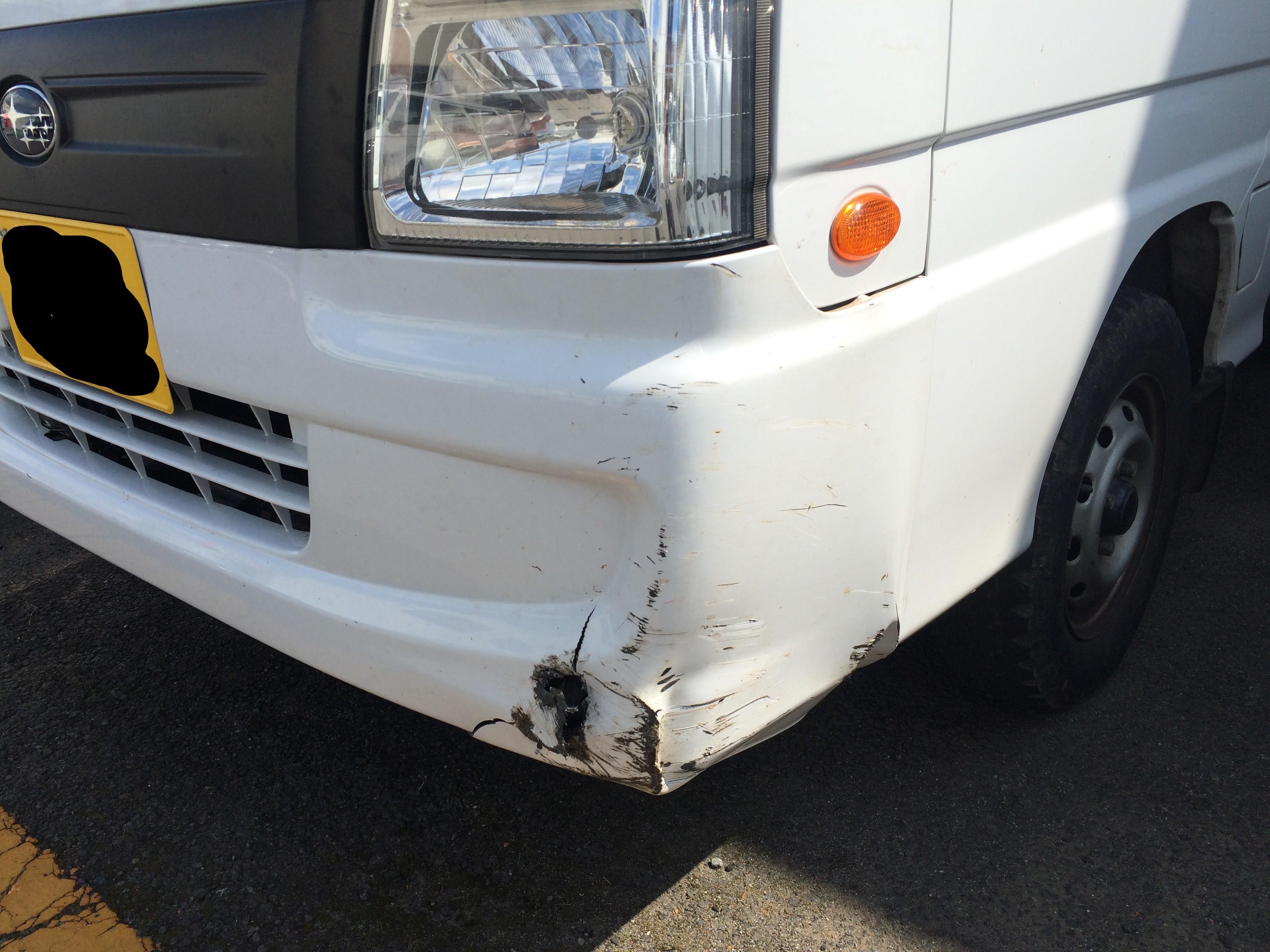 サンバー フロントをぶつけたら要注意!エンジン吹けなくなる症状