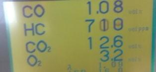 サンバー 排気ガスが基準値越え O2センサ交換