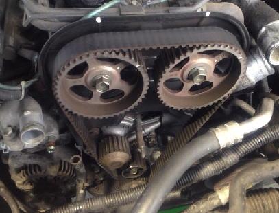 カプチーノ EA11R タイミングベルト ウォーターポンプ ヘッドカバーパッキン交換