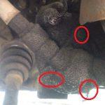 サンバー スピードメーターギヤケースからのオイル漏れ修理