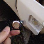 サンバー KT6の給油口の鍵交換