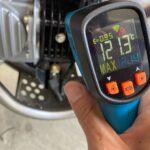 非接触型の温度計で車やバイクのいろんなところを計測してみた